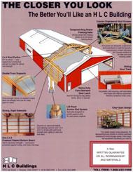 Post frame pole barn custom construction hlc buildings for Free post frame building plans